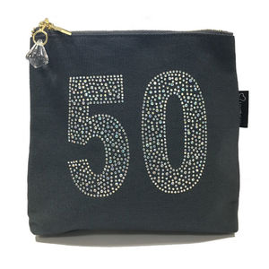 50th Birthday Sparkly Make Up Bag