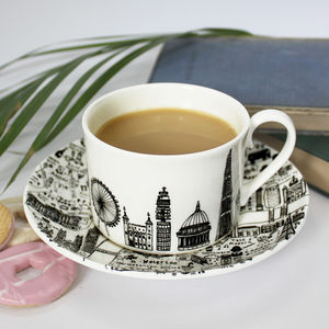Central London Teacup And Saucer Set - tableware