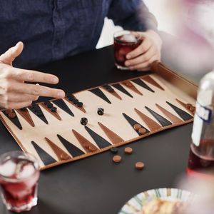 Personalised Leather Backgammon Set - best father's day gifts