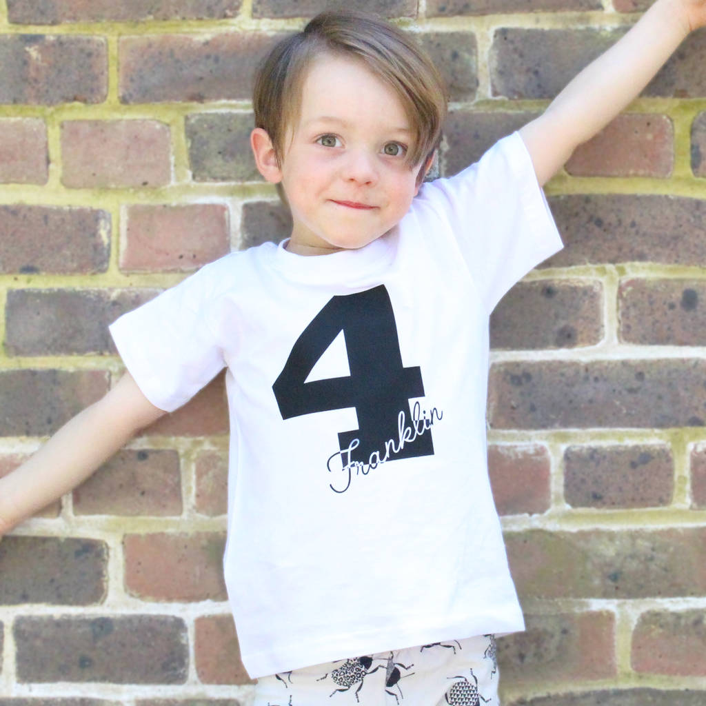 Personalised Childrens Birthday T Shirt