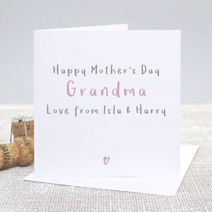 Happy Mother's Day Grandma Personalised Card