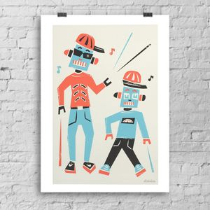 'Doing The Robot' Open Edition Art Print