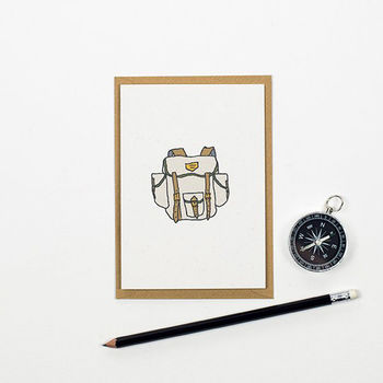 Rucksack Greetings Card