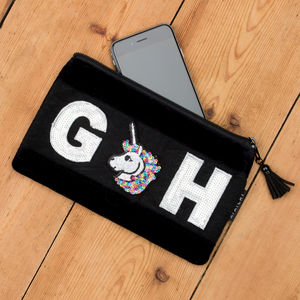 Personalised Velvet Mini Case - passport & travel card holders