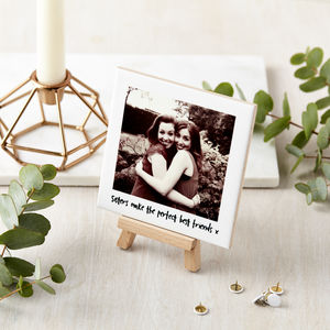 Personalised Siblings Photo And Mini Easel - family & home