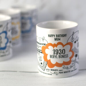 90th Birthday Gift Mug Personalised For 1930