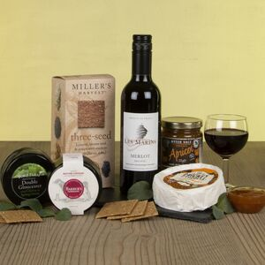 The Wine And Cheese Slate Gift Hamper