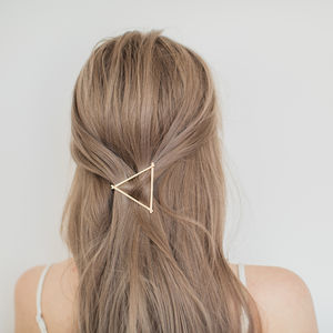 Gold Triangle Hair Clip - combs & hair pins