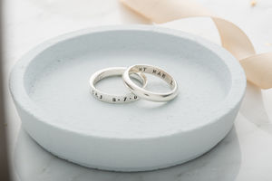 Personalised Mens Script Ring - rings