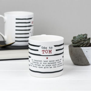 Tom Hardy Poem Bone China Mug