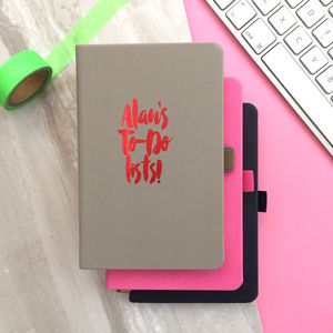 Personalised Name Notebook - writing