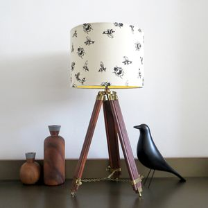Bumble Bee Lampshade With Colour Inside Lining - bedroom