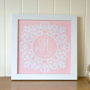 Personalised Baby Initial Frame