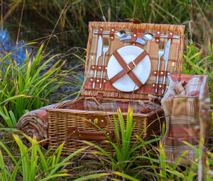 Suitcase Picnic Hamper | Grey Or Autumn Tartan - storage & organisers