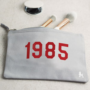 Personalised 'Year' Make Up Bag - 16th birthday gifts