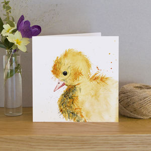 Inky Duckling Blank Greeting Card