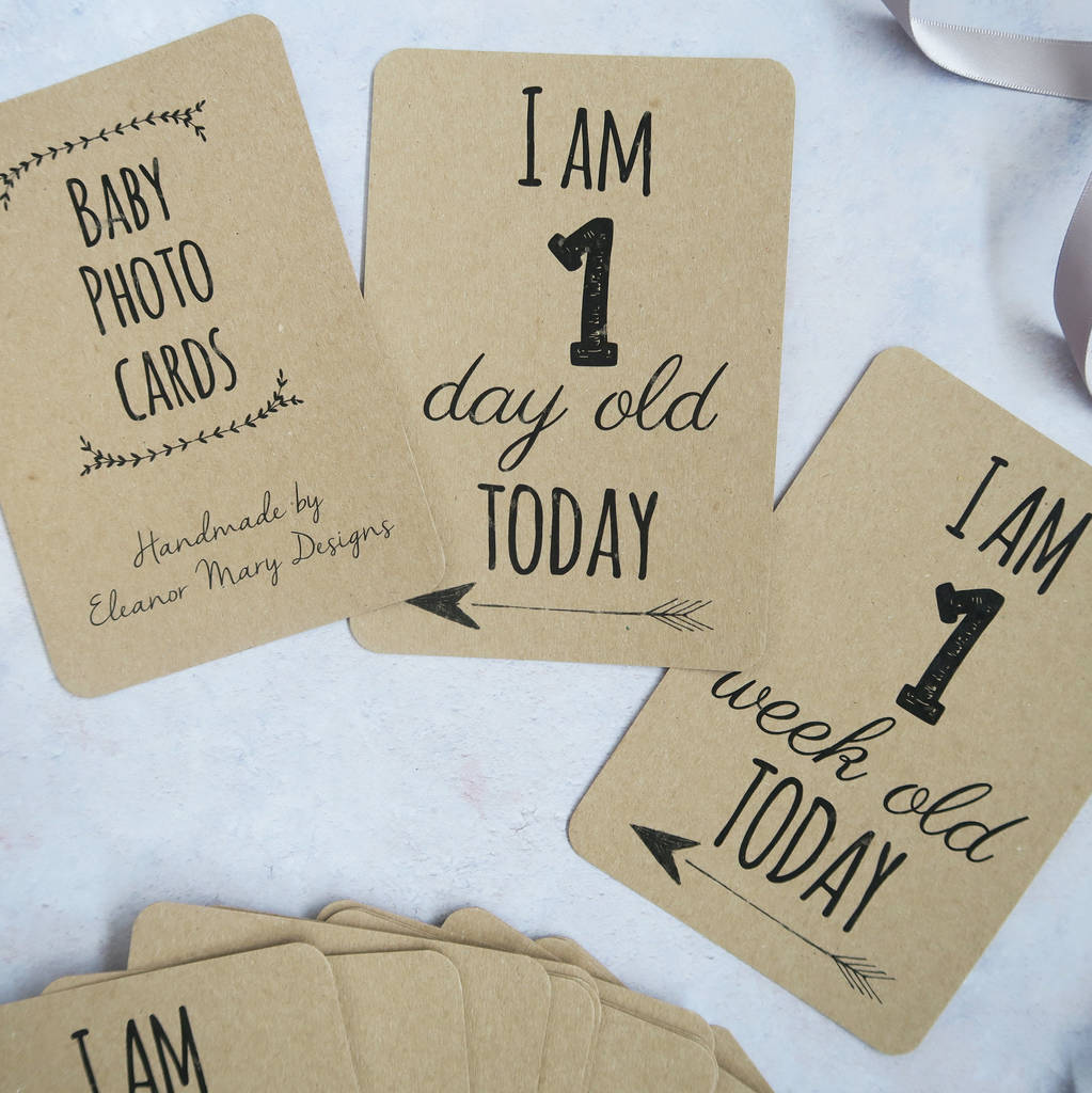 40 Eco Friendly Baby Milestone Cards Made from Recycled Material