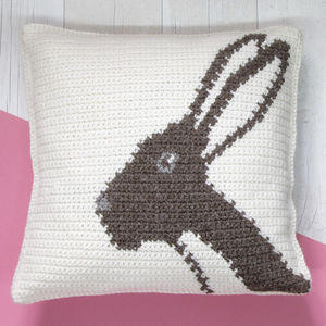 Hare Cushion Crochet Craft Kit - creative kits & experiences