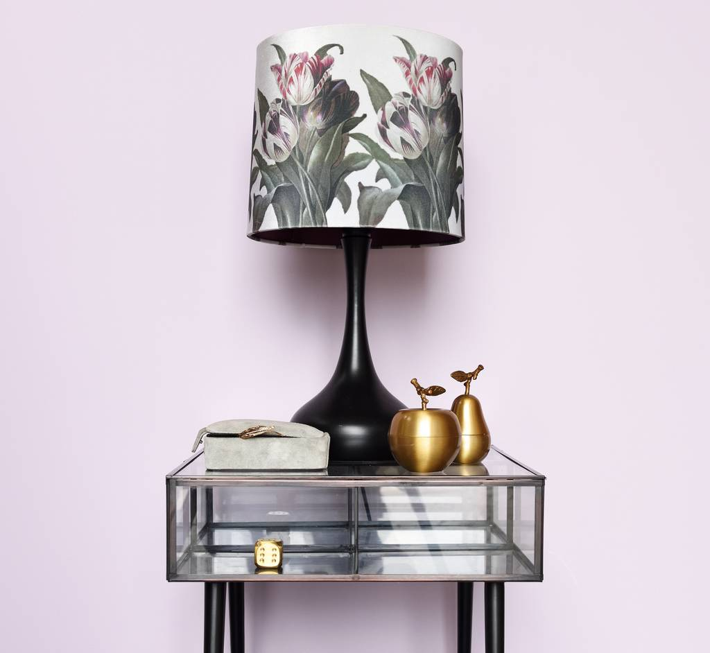 floral print shade and lamp base by the forest co rh notonthehighstreet com