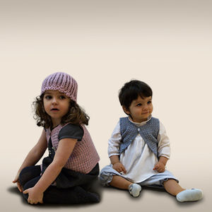 Boys And Girls Sleeveless Organic Cardigan