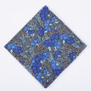 Mens Blue Floral Pocket Square