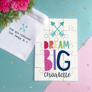 Personalised Dream Big Jigsaw Puzzle