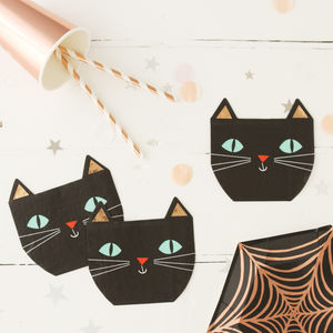 Halloween Black Cat Party Napkins - top halloween picks