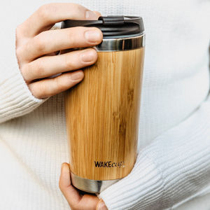 Personalised Reusable Sustainable Bamboo Coffee Cup - flasks & waterbottles