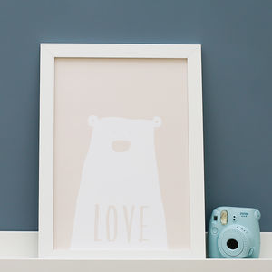 Clueless Bear Love Print - new in home