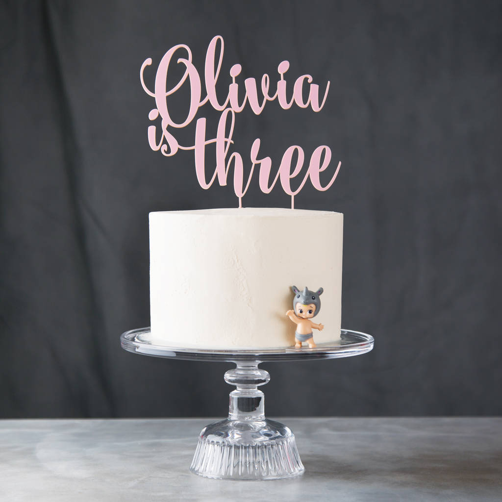 Personalised Acrylic Birthday Age Cake Topper By Twenty Seven