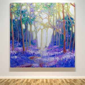 Escape Through The Bluebell Wood - canvas prints & art