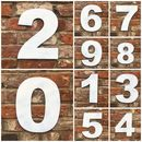 Trendy Metal House Numbers Plaque Sign