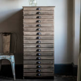 Tall Wooden Filing Cabinet - stationery