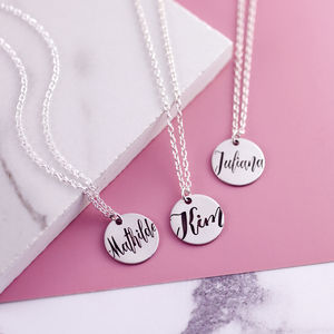 Sterling Silver Engraved Name Necklace - necklaces & pendants