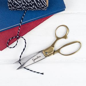 Personalised Engraved Scissors - gifts for grandparents