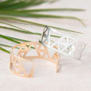 Personalised Triangle Cuff - bracelets & bangles
