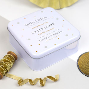 Gold And Silver Anniversary Tin Box - kitchen