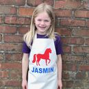 Personalised Apron Animal Or Dinosaur