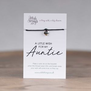Little Wish 'Auntie' Heart Wish Bracelet - view all new