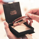 Personalised Special Date Bangle Handmade 18 Ct Gold