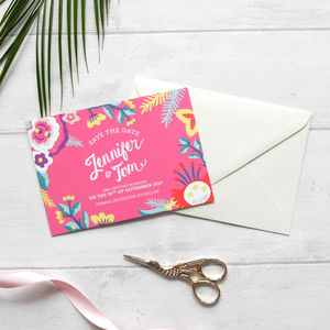 Colourful Save The Dates