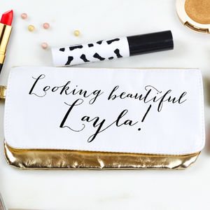 Personalised Make Up Bag 'Beautiful!'