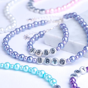Child's Personalised Bracelet Or Necklace - christening gifts