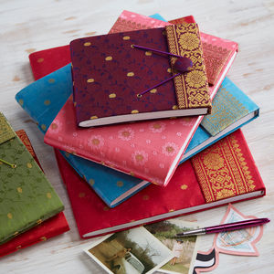 Fair Trade Sari Photo Albums - albums & guest books