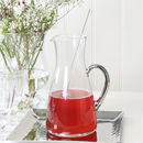 Silver Glass Jug With Stirrer