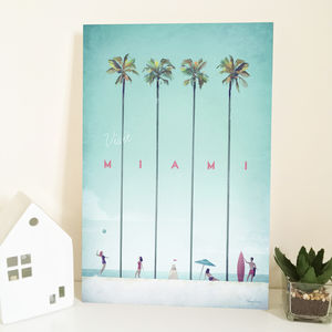 'Visit Miami' Travel Poster - posters & prints
