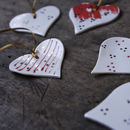Porcelain Heart Decorations