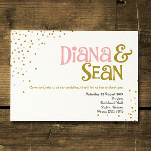 Joyful Wedding Invitation And Save The Date - invitations