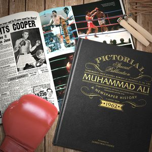 Personalised Embossed Muhammad Ali Book - gifts for him