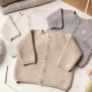 Baby Unisex Bubble Knitted Cardigan